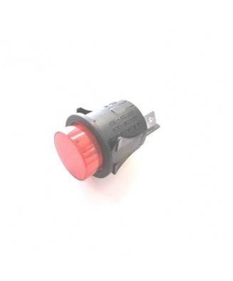 Drukschakelaar rood 16A 250V
